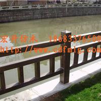 供应四川园林景观水泥仿木栏杆