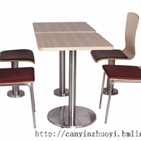 长沙西餐厅桌椅-肯德基快餐桌椅-防火板桌椅