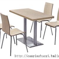 昆明西餐厅桌椅-防火板快餐桌椅-肯德基桌椅