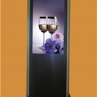 供应70 84寸全天候户外高亮落地式广告机