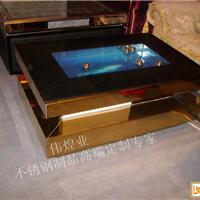 中式不锈钢茶几-青古铜缎纹风格 适合各家庭