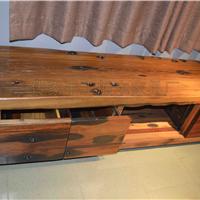 供应旧船木双层四开电视柜 船木电视地柜