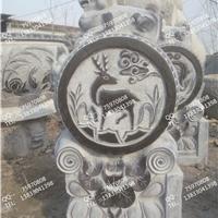 供应仿古门墩石狮子石鼓小象鼓拴马桩九子柱