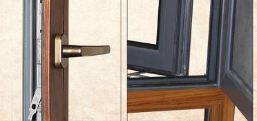 天津130红橡铝包木金刚网一体门窗 无缝焊接
