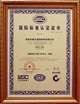 WSC国际标准认证证书
