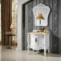 供应实木浴室柜 橡木浴室柜 仿古雕花2064