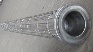 供应山东河南银川外滤式圆形镀锌滤袋笼骨架