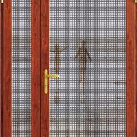 佛山诺盾门窗75款铝合金金刚网子母平开纱门