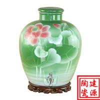 5斤手绘色釉陶瓷酒坛 批发零售