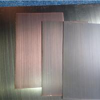 供应201不锈钢发黑红古铜拉丝板
