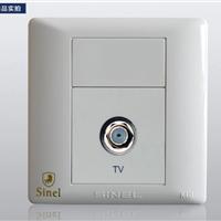 供应一位宽频电视插座  (世耐尔K4.0系列)