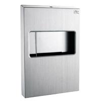 供应四分之一不锈钢坐厕纸巾箱