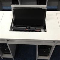 供应智能化单人双人三人翻转电脑桌 翻转桌