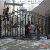 天津西青区铁艺门,各种庭院铁艺大门厂家
