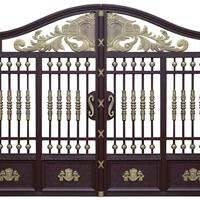 供应铝艺手动大门,铁艺手动大门,栏杆