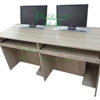 佛山液晶屏升降桌 电教室双人升降电脑桌