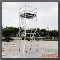 供应双宽铝架 6m工作铝合金斜爬梯架 配支撑
