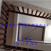 东莞常平实木进口沙比利楼梯扶手8公分扶手