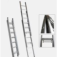 供应铝合金伸缩梯 升降铝梯 三层手控伸缩梯
