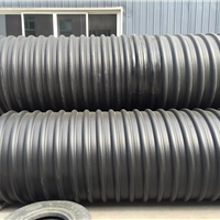 陕西厂家供应HDPE钢带增强螺旋波纹管报价