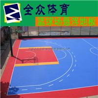 供应悬浮式室外篮球场拼装运动地板