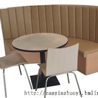 衡阳快餐厅家具,衡阳弧形卡座沙发定做