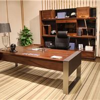现代时尚款自由畅想实木班台胡桃木大班桌