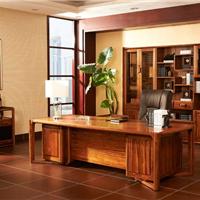 实木办公家具伦敦格调现代时尚款实木大班桌