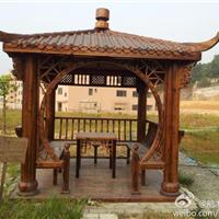 供应船木户外梳条摇椅 船木简易凉亭