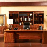 米兰印象纯实木办公家具现代时尚实木班台