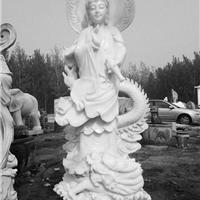 供应曲阳汉白玉石雕观音寺庙观音佛像雕塑