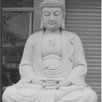 供应曲阳汉白玉坐佛释迦摩尼佛像雕塑