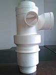 厂家直销排水管件pvc旋流同层右立体四通