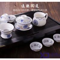 供应青花瓷手绘茶具套装,陶瓷茶具