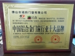中国铝合金门窗行业十大品牌