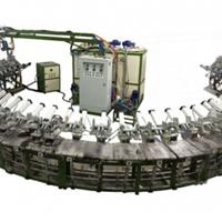 供应24工位单双密度聚氨酯PU安全鞋发泡机