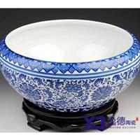 供应景德镇青花瓷大缸 手绘陶瓷大缸