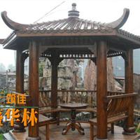碳化木凉亭,景观凉亭定制,北京防腐木凉亭