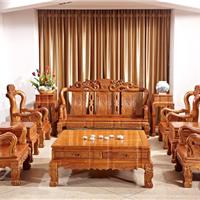 供应中山集古韵今缅甸花梨家具红木客厅沙发