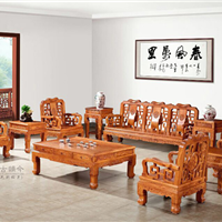 供应集古韵今缅甸花梨客厅沙发中山红木家具