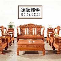供应广东中山集古韵今红木家具缅甸花梨沙发