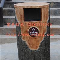 供应HS仿木花箱 仿木垃圾桶 仿木桌凳