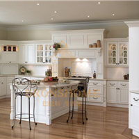 供应实木美式岛型整体厨房 巴伦斯品牌定制