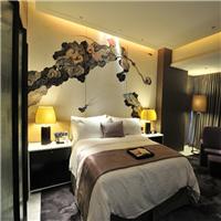 供应皮革喷绘软包|酒店床头墙硬包艺术软包