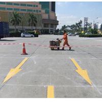 郑州停车场划线、道路热熔划线,减速带安装