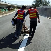 河南郑州道路热熔划线道路标线施工交通标线