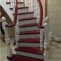供应别墅楼梯之弧形木制梯