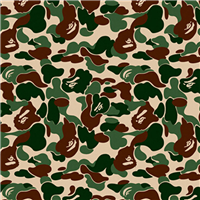 供应迷彩印花壁纸 aape猿人迷彩墙纸