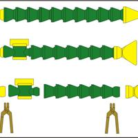 供应可调塑料冷却管, 机床塑料喷油管