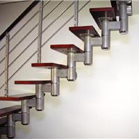 复式阁楼专用旋转楼梯玻璃护栏实木楼梯